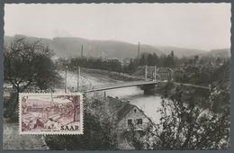 "Saarland (1947/56): 1952, ""6 Fr. Saar V"" Mit Ersttagsstempel METTLACH (SAAR) B -1.8.53 Bildseitig Al - 1947-56 Allierte Besetzung"