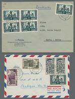 """Saarland (1947/56): 1952, """"500 Fr. Saar V"""" Mit Ersttagsstempel Auf FDC In Sehr Guter Erhaltung, FA H - 1947-56 Allierte Besetzung"""