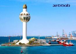 Saudi Arabia Jeddah Port New Lighthouse Postcard Saudi Arabien AK - Arabia Saudita