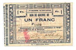 1914 // ANVAING // BON DE GUERRE // SUCRERIE // Un Franc - België
