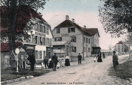 Verrières-Suisse - La Frontière. Colorisée. Edition Thimothée Jacot, N°899. Circulée 1910. Bon état. - NE Neuchâtel