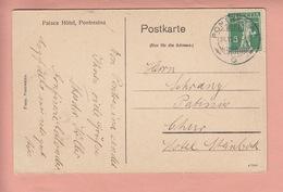 OLD POSTCARD - SWITZERLAND - SCHWEIZ - SUISSE -   PALACE - PONTRESINA -  CARD MAILED TO PATISSIER HOTEL STEINBOCK CHUR - GR Grisons