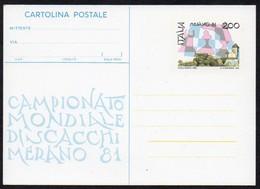 Italien 1981 Karte/ Entire Card Ungebr./ Not Used ; Merano, Schach- WM - Schach