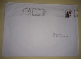 Letter - Stamp Hronser / Postmark Gottwaldov, 1990., Czechoslovakia - Sin Clasificación
