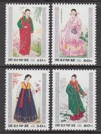 1997 North Korea Costumes Culture Complete Set Of 4 MNH - Corée Du Nord