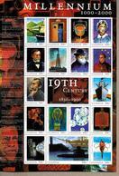 OUGANDA  Feuillet N° 1850/66 * * ( Cote 17e ) Millennium  Infermiere  Horloge Ampoule Nobel Telephone Pasteur Petrole - Louis Pasteur