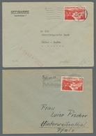 Saarland (1947/56): 1949-1950, Partie Von 6 Einzelfrankaturen Mit Mi.Nr. 252 (2 Stück), 264, 266, 29 - 1947-56 Allierte Besetzung