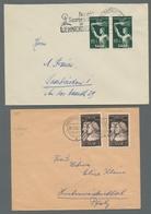 Saarland (1947/56): 1949-1953, Partie Von 5 Belegen Mit Ausschließlich Nur Mehrfachfrankaturen. Enth - 1947-56 Allierte Besetzung
