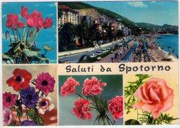 Fiori Con Saluti Da Spotorno (Sv). Multivisione. VG. - Fiori