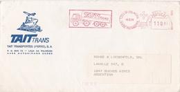 """""""TAIT TRANS, TRANSPORTES"""" PORTUGAL COMMERCIAL COVER, CIRCULATED 1991 LEÇA DA PALMEIRA TO BUENOS AIRES, ARGENTINA -LILHU - 1910-... República"""