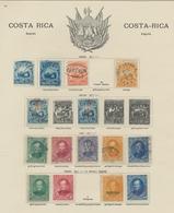"""Costa Rica: 1862-1910, Saubere Sammlung Auf """"Schaubek""""-Vordrucktext Mit Besseren Werten Und Sätzen W - Costa Rica"""