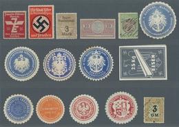 Vignetten: 1870-1990 (ca.), Partie In 3 Kleinen Einsteckbüchern Mit U.a. Etlichen Siegelmarken Aus D - Vignetten (Erinnophilie)