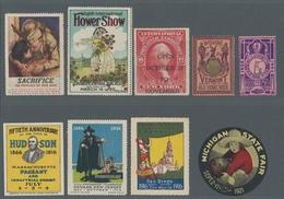 Vignetten: 1899-1980, Sammlung Von Etwa 800 Vignetten Aus Den USA In Einem Einsteckbuch Mit U.a. Aus - Vignetten (Erinnophilie)