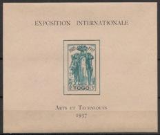 Togo - 1937 - Bloc Feuillet BF N°Yv. 1 - Exposition Internationale - Neuf Luxe ** / MNH / Postfrisch - Togo (1914-1960)