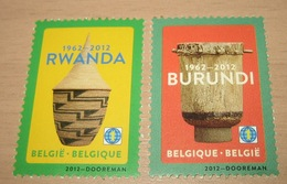 4240**+ 4241** Burundese Trom + Rwandees Mandje  Postfris - Tambour Burundais MNH ( 2 Timbres World) 2 X Wereld - Belgium