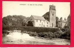 CPA (Réf : X 691) CONDAT (24 DORDOGNE) La Chute Du Coly Et L'Église - Francia