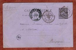 P 8 Allegorie, St Affrique Nach Malines 1889 (90301) - Standard Postcards & Stamped On Demand (before 1995)