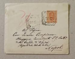Scritto Firenze-Napoli Per Il Comandante Del 9° Battaglione Delle Truppe D'Africa Eritrea - 19/12/1895 Con Testo - Marcophilia