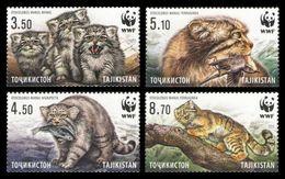 Tajikistan 2017 Wild Cats Wwf Set MNH - Ohne Zuordnung