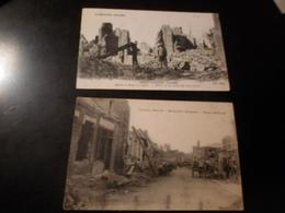 LOT DE 35 CPA / GUERRE 14-18 / LA SOMME - Postcards