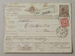 Bollettino Di Spedizione Maniago-Catania - 06/11/1890 - 1878-00 Umberto I