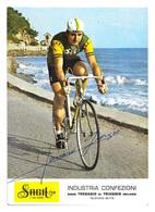 CARTE CYCLISME GIORGIO FAVARO SIGNEE TEAM SAGIT 1970 - Cyclisme