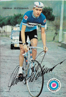 CARTE CYCLISME THOMAS PETTERSSON SIGNEE TEAM FERRETTI 1970 - Cyclisme