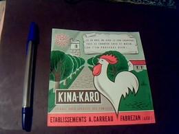 étiquette KINA_ KARO Ets Carreau à Fabrezan Aude - Other