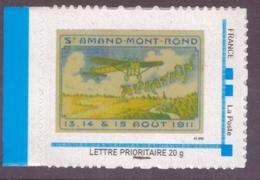 Timbre Adhésif Personnalisé Neuf Mon Timbre à Moi MTAM St Amand Mont Rond Avion Aviation - France