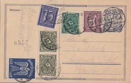 DR Ganzsache Zfr. Minr.183,185,193,217,2x 229 Berlin 28.1.23 - Deutschland