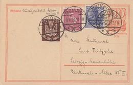DR Ganzsache Zfr. Minr.149,158,210 Meißen 9.8.22 Geprüft - Deutschland