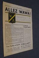 Allez Wawa 1957,club De Football Wallonia Namur,originale 28 Cm. Sur 22 Cm. - Football