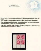 """LIBERATION:  FAUX """"PETAIN-LAVAL"""" EN BLOC DE 4** COTE PM: 240E - Liberación"""