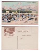 Old Chromo Biscuits Pernot - Les Plages De France - Illustrateur Illustrator Luigi Loir - Royan - Pernot