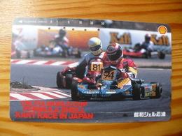 Phonecard Japan 110-164282 Car Race, Shell - Japon