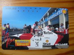 Phonecard Japan 110-141478 Car Race, Shell - Japon