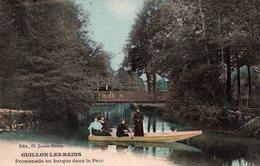 T6 - CP DOUBS - Colorisée - GUILLON LES BAINS - Promenade En Barque Dans Le Parc - Autres Communes