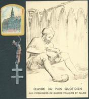 Lot Ww1, Carte Journée Patriotique, Pain, Prisonniers, Reims, Croix De Lorraine - Armée De Terre