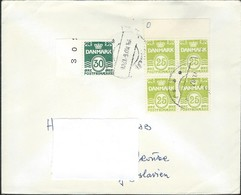 1976 Denmark Letter Via Yugoslavia - 1967 Wavy Lines 30 Ore & 1965 Wavy Lines 25 Ore - Denmark