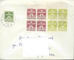 1976 Denmark Letter Via Yugoslavia - Wavy Lines 5 Ore , 10 Ore Fluorescent Paper & 1965 25 Ore - Fluorescent Paper - Denmark