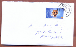 UGANDA Domestically Used Cover With UGX 700 2019 Gandhi Stamp , TORORO PO Postmark OUGANDA - Uganda (1962-...)