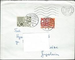 1970 Denmark Bagsvard Letter Via Yugoslavia - Post Office Banking Service & Valdemar Pulsens - Inventor - Lettres & Documents