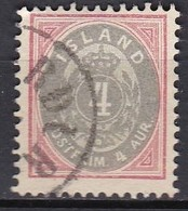 IS004 – ISLANDE – ICELAND – 1899 – NUMERAL VALUE IN AUR - PERF. 12,5 – Y&T # 21 USED 22 € - Oblitérés