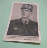 Carte Postale Photo Gl De Gaulle En L 'état - Personnages