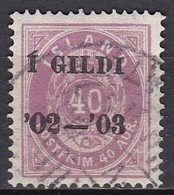 IS005 – ISLANDE – ICELAND – 1902 – NUMERAL VALUE OVERPRINTED - PERF. 14X13,5 - SC # 66 USED 95 € - Oblitérés