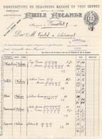 LETTRE De 1960  Manufacture De Chaussons Basane EMILE ESCANDE (chaussures)  81 Mazamet  Pour Perriolat Lyon - Kleding & Textiel