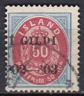 IS006 – ISLANDE – ICELAND – 1902 – NUMERAL VALUE OVERPRINTED - PERF. 14X13,5 - SC # 67 USED 127 € - Oblitérés