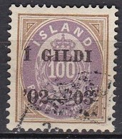 IS007 – ISLANDE – ICELAND – 1902 – NUMERAL VALUE OVERPRINTED - PERF. 14X13,5 - SG # 65 USED 82 € - Oblitérés