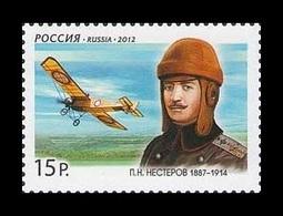Russia 2012 Mih. 1790 Aviation. Pilot Pyotr Nesterov MNH ** - 1992-.... Fédération