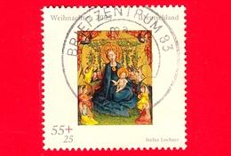 GERMANIA - Usato - 2005 - Natale - Christmas - Noel - Navidad - Madonna E Rose - 55 + 25 - Usati